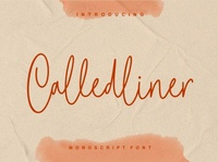 Calledliner - Monoscript Font