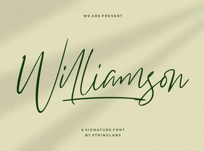 Williamson - Luxury Signature Font