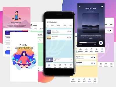 Meditation App ui app design design
