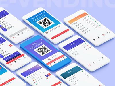 E-vending app app design ui design