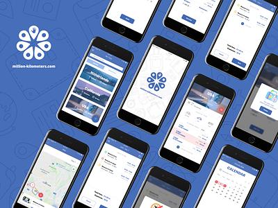 Million kilometers ux app design ui design