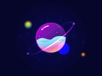 Glass Planet background image illustration vector