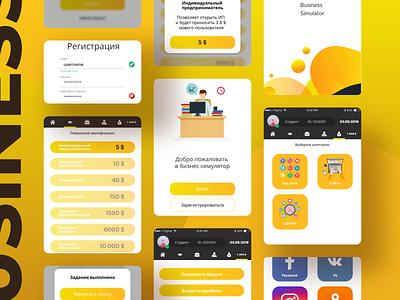 Business Simulator app ux app design ui design