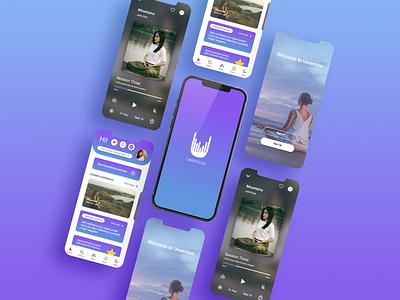 Meditation App uidesign minimal uiux meditating meditate meditation app meditation icon app logo ux app concept ui