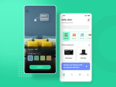 Augmented Reality App android app ios ui  ux user experience virtual reality figma design user interface tab minimal flat app ux ui challenge dailyui card home typography augmented reality