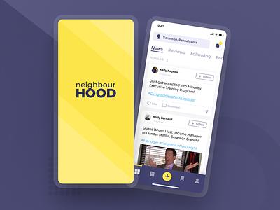 App similar to Nextdoor application app dashboard neighborhood minimal app design ui ux typography illustration app concept ui design