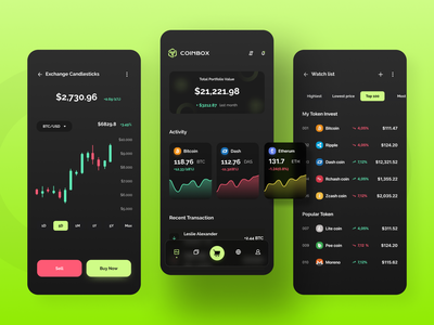 Cryptocurrency Wallet App app minimal typography application ux ui app design app concept ethereum bitcoin crypto exchange cryptocurrency crypto wallet