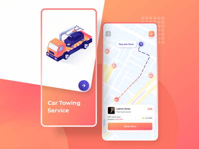 On Demand Towing App app dashboard ios app design app design ui  ux typography minimal application ux app concept ui android app towing