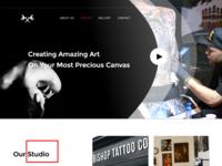 Website design for Tattoo Studio
