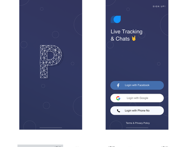 Live Chatting & Tracking App photoshop sketch ux design concept ui  ux ui chatting app chatting