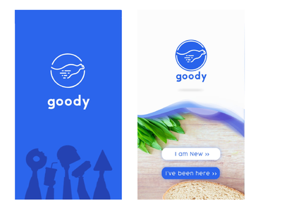 Goody Food Ordering & Delivery App ux ui design ux designer ux design best food ordering apps app concept ui