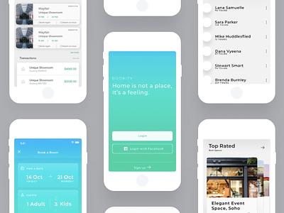 Hotel and Event Booking app hotel app design design app concept ui