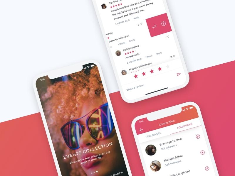 Event Mockup illustration event app mockup ui design app concept
