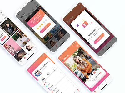 Dating Application branding ux a dating app app concept ui