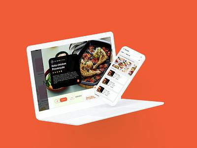 Food Order and Delivery Application ux app dashboard design best food ordering apps ui app concept