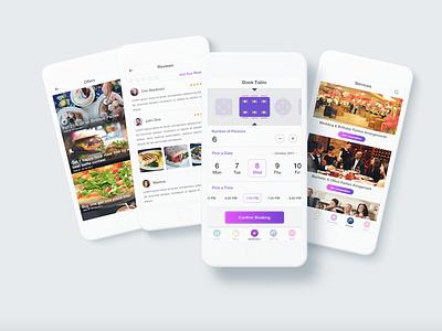 Restaurant and Reservation App ui app dashboard best food ordering apps app concept