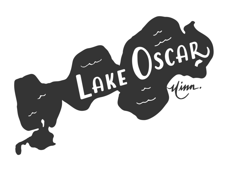 Lake Oscar MN for Lakes Supply Co sticker mnlakes minnesota lakes minnesota lakes mn illustration t-shirt logo apparel minnesota outdoors lake handlettering fishing hand lettering
