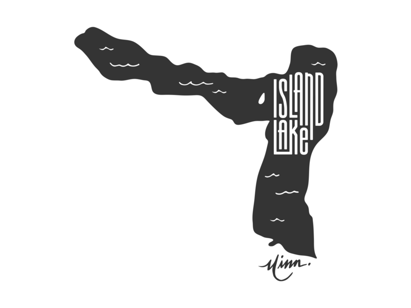 Island Lake MN for Lakes Supply Co island mn shirt illustration t-shirt apparel minnesota outdoors lake handlettering fishing hand lettering