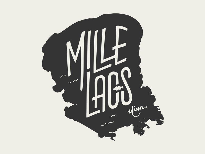 Mille Lacs Lake for Lakes Supply Co mille lacs mn illustration t-shirt apparel minnesota outdoors lake handlettering fishing hand lettering