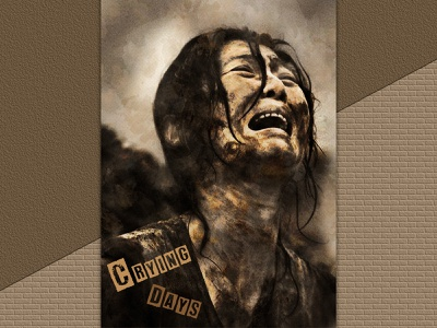 Crying Days print graphic design typography illustration photomontage affiche psd poster compositing photoshop