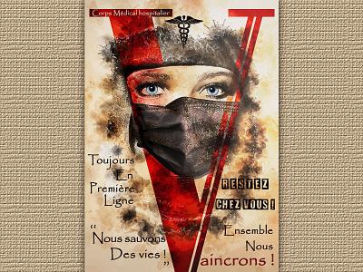 Nurse design photomanipulation affiche digital art illustration psd print poster compositing photoshop