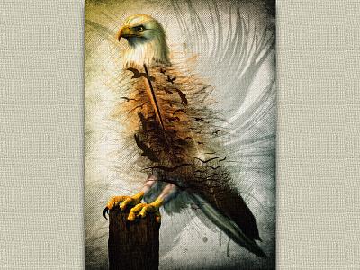 Aigle photomontage digital art photomanipulation eagle aigle illustration poster affiche compositing print photoshop