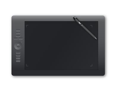 Tablet and Pen vector illustrator drawing pen tablet