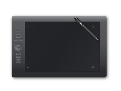 Tablet and Pen vector illustrator drawing pen tablet