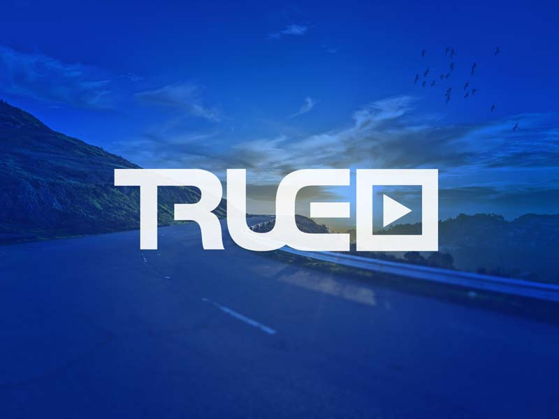 True Media Inc. Logo true identity publication play blue logo media