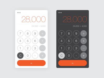 Calculator - Daily UI 004 004 dailyui dark light calculator