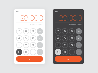 Calculator - Daily UI 004 004 dailyui dark light calculator