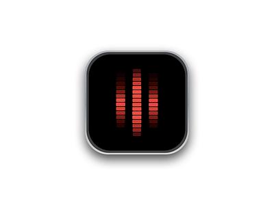 """Daily UI 005 - Knight Rider """"Kitt"""" Icon knight rider kitt icon dark 005 dailyui"""
