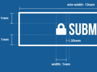 Submit Button Specs vector ui wires submit button white design system blueprint