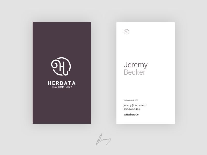 Herbata business cards img