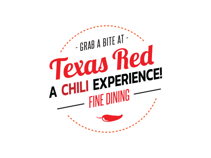 Texas Red typography art texas logo
