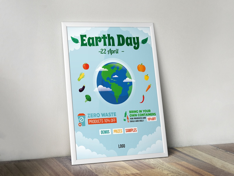 Earth day poster poster design ecological recycle earth regeneration design poster