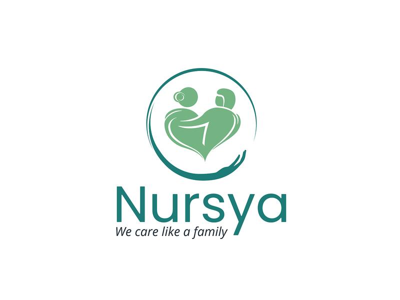 Nursya logo foster foster care old people care nursing logodesign