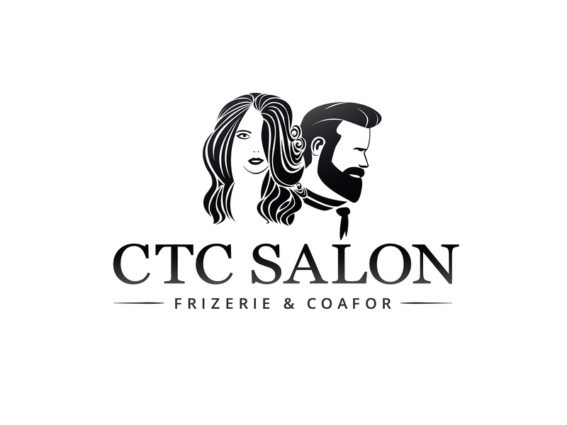 CTC Salon logo logodesign hairdresser hair salon hairstyle haircut salon beauty logo