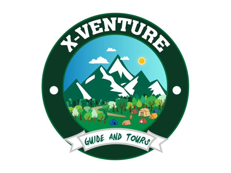 X venture badge-logo badge design badge minimal flat logo design illustration