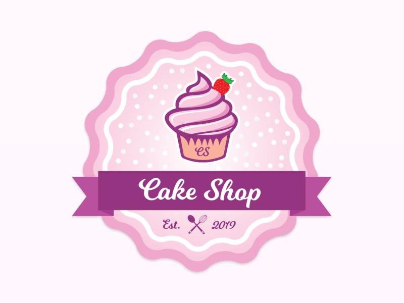Cake Shop badge logo badge design cupcake design cakeshop badgelogo badge logo cake