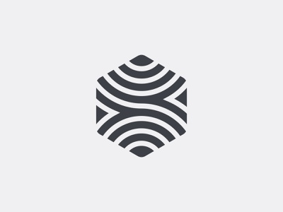 S + Hexagon vector branding logo type lines pattern beach waves