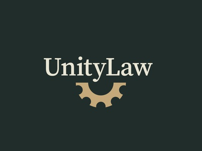 UnityLaw lawyer law attorney  law attorneys labor cog branding