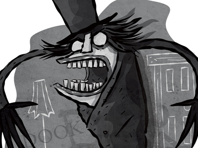 The Babadook the babadook illustration black and white character