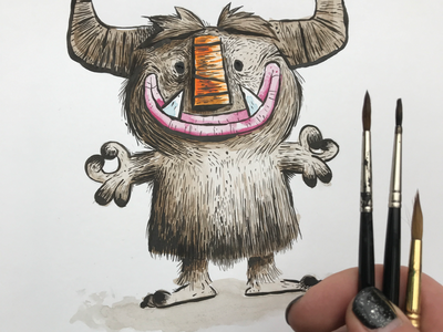 Critter character design character monster brushes inks