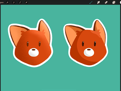 fox stickers stickers procreate illustration art
