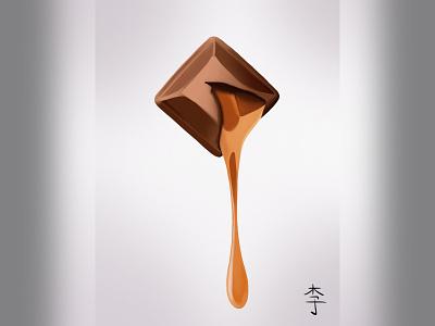 chocolate procreate design illustration art