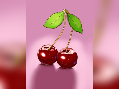 cherry procreate design illustration art