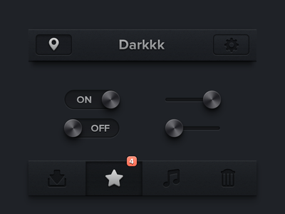Dark iPhone UI [Freebie] app ui iphone ipad ios freebies