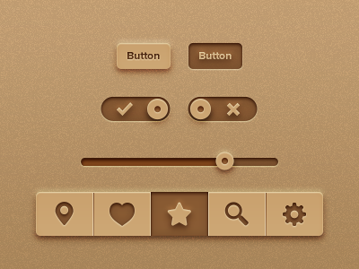 Recycled Paper Kit [Freebie] app ui iphone ipad ios freebies