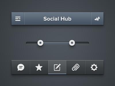 Social hub menu